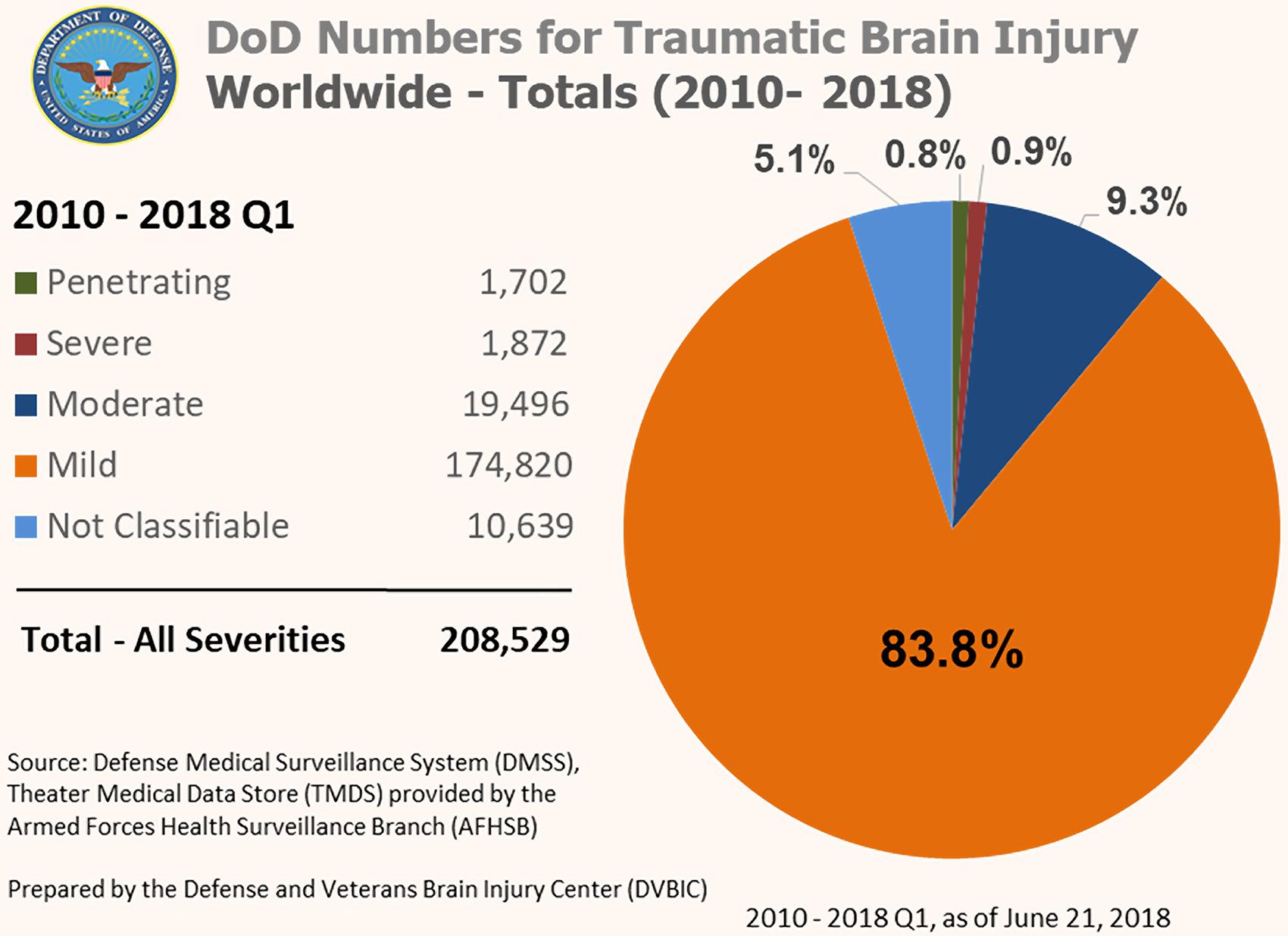 Continuum of the United States military's traumatic brain injury