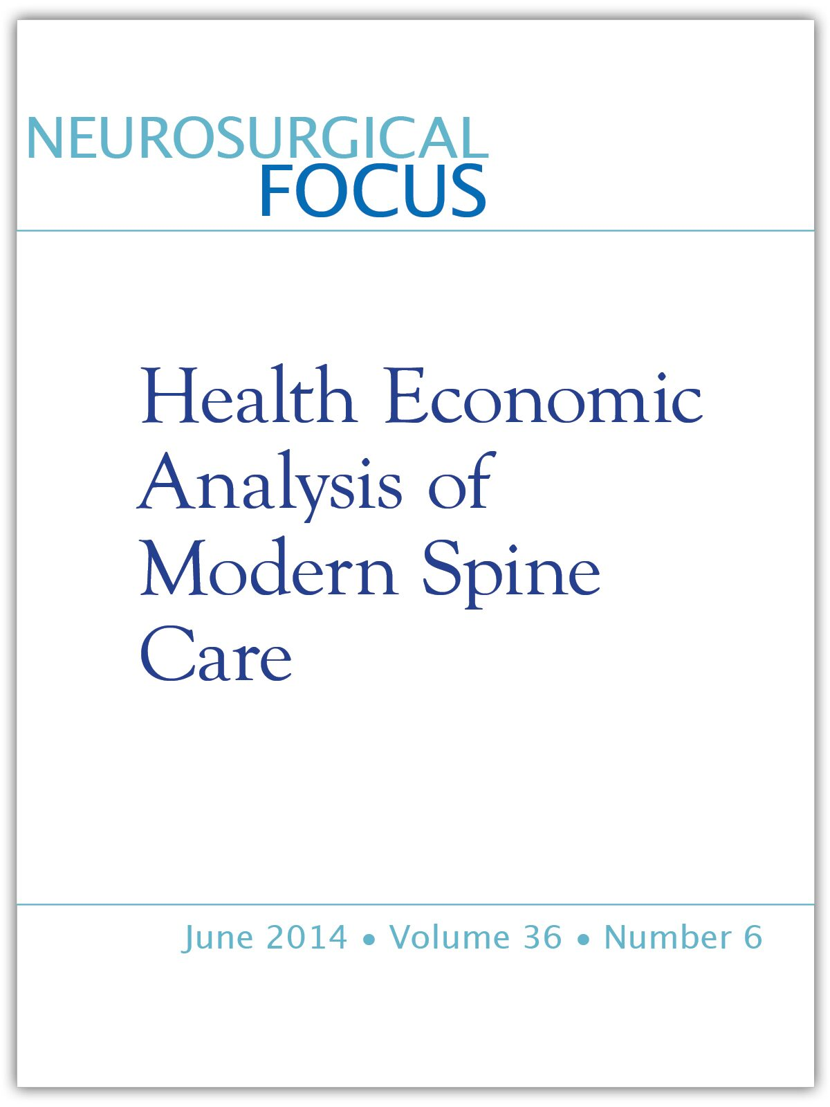 Perioperative Outcomes Complications And Costs Associated With Lumbar Spinal Fusion In Older Patients With Spinal Stenosis And Spondylolisthesis In Neurosurgical Focus Volume 36 Issue 6 2014