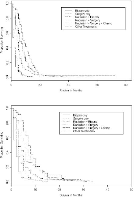 Patterns of care and outcomes among elderly individuals with