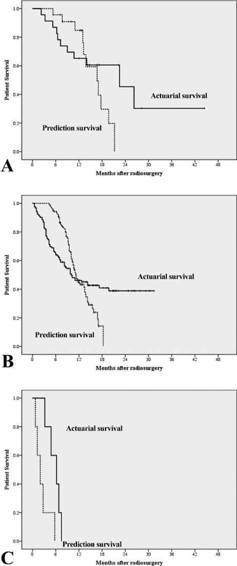 The accuracy of predicting survival in individual patients