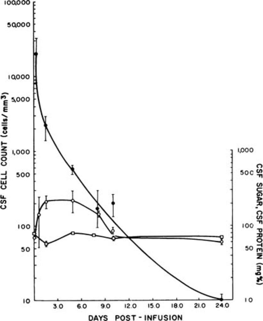 Toxicity kinetics and clinical potential of subarachnoid