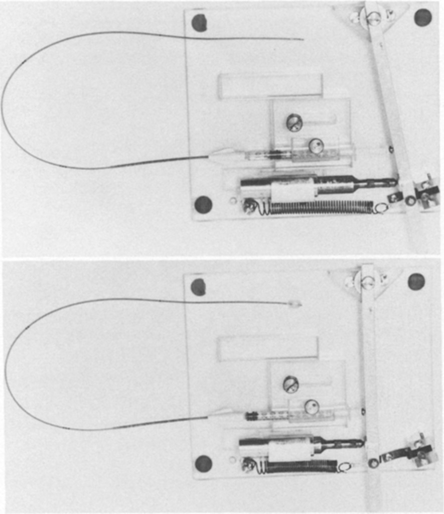 Effect Of Blood Transfusion Dopamine Or Normal Saline On Diagrammatical Image Injectors Automatic Spring Loaded Injector Before Upper And After Lower Balloon Inflation The Tuberculin Syringe Is Mounted In Attached To