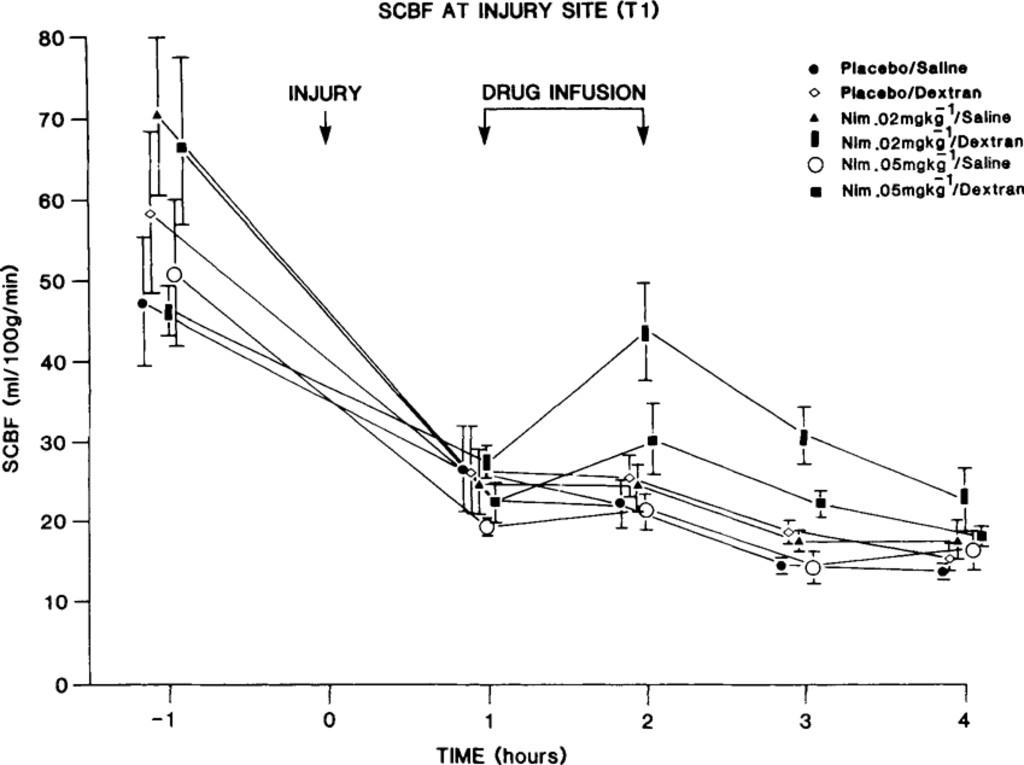 The Effect Of Nimodipine And Dextran On Axonal Function And Blood